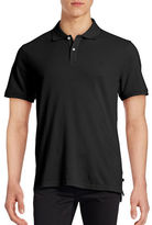 Black Brown 1826 Short Sleeve Solid Pique Core Polo