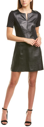Michael Stars Leather Front A-Line Dress