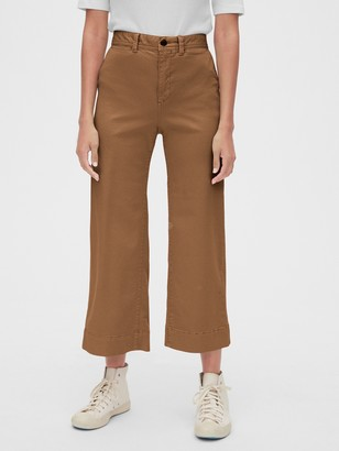 Gap High Rise Wide-Leg Crop Chino Pants