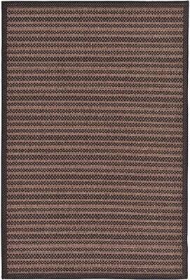 "Cher Striped Brown/Back Indoor/Outdoor Area Rug Trent Austin Design Rug Size: Rectangle 8' x 11'4"""