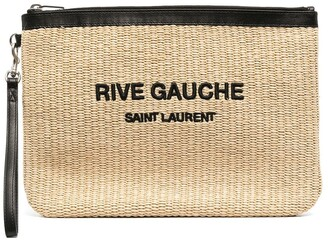 Saint Laurent Rive Gauche woven pouch bag