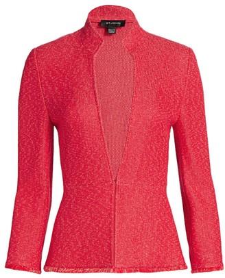 St. John Refined Knit Highneck Jacket