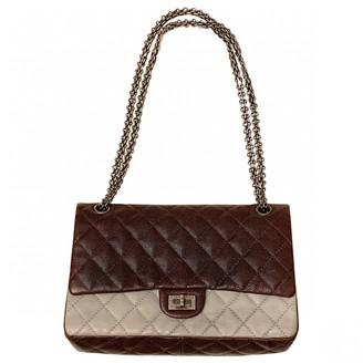 Chanel 2.55 Burgundy Leather Handbags