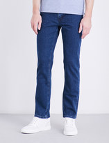 BOSS Regular-fit stretch-denim jeans