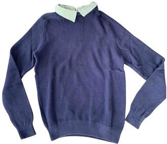 Carven Blue Cotton Knitwear & Sweatshirts