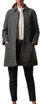 Toast Boiled Wool Coat, Charcoal