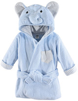 Hudson Baby Boys' Bath Robes Blue - Blue Terry Elephant Bathrobe - Newborn