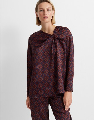 Club Monaco Twist Front Blouse