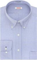 Izod Aqua Multi Plaid Dress Shirt - Big & Tall