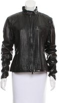 Ralph Lauren Black Label Structured Leather Jacket w/ Tags