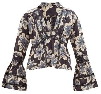 Dodo Bar Or Enid Floral-print Cotton Shirt - Womens - Black Multi