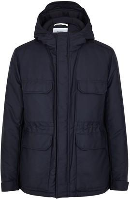 Norse Projects Nunk navy padded nylon jacket
