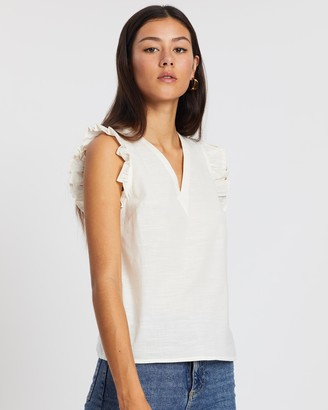 Vero Moda Lynn Sleeveless Frill Top