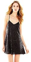 Marchesa Pearl Georgina Chapman of Sequin Trapeze Dress