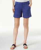 INC International Concepts Curvy-Fit Scalloped-Edge Shorts, Only at Macy's