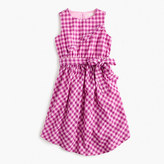 J.Crew Girls' tie-front dress in violet gingham