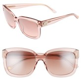 Juicy Couture Women's Black Label 55Mm Square Sunglasses - Havana