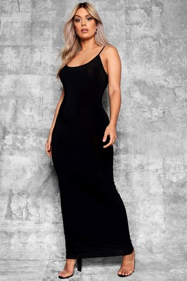 boohoo Plus Slinky Strappy Maxi Dress
