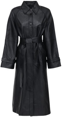 REMAIN Romy Oversize Leather Trench Coat