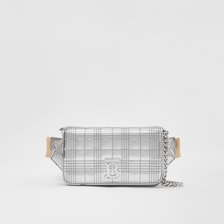 Burberry Quilted Metallic Lola Bum Bag with Chain Strap