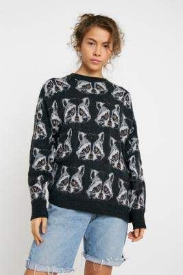 Urban Outfitters Raccoon Jumper - grey XS at