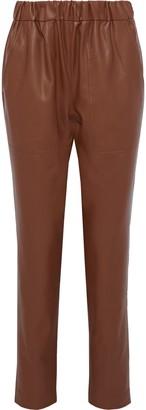 Tibi Faux Leather Straight-leg Pants