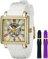 Stuhrling Original Women's Leisure Uptown Ozzie Skeleton Mechanical Watch 341.133615