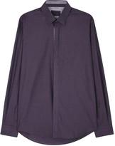 Pal Zileri Dark Purple Cotton Shirt