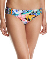 LaBlanca La Blanca Tropicali Side-Shirred Swim Bottoms, Multipattern