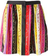 Ungaro Paris print pleated skirt