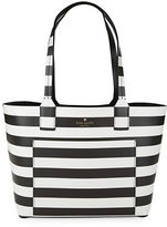 Kate Spade Striped Grain Leather Tote
