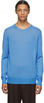 Bottega Veneta Blue Cashmere Crewneck Sweater