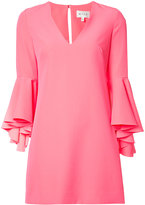 Milly ruffled sleeves dress - women - Polyester/Spandex/Elastane - 8