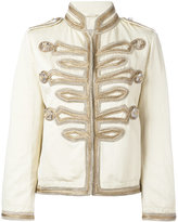 Ermanno Scervino high neck boxy jacket - women - Linen/Flax/Cotton - 40