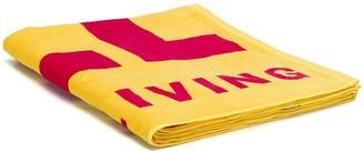 Diesel Logo Print Beach Towel