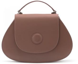 A.Cloud Hal Circle Dot Handle Bag- Chocolate Brown