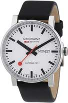 Mondaine Men's A132.30348.11SBB Analog Display Swiss Automatic Black Watch