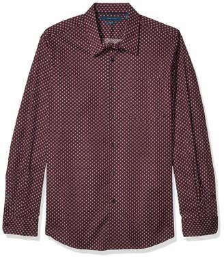 Perry Ellis Men's Long Sleeve Paisley Print Shirt