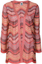 M Missoni stripe knit glitter cardigan