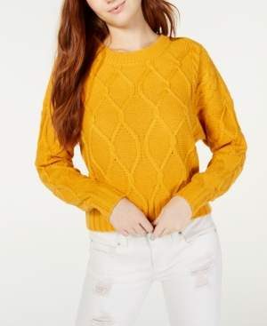 Ultra Flirt Juniors' Cable-Knit Sweater