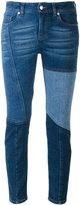 Alexander McQueen skinny patchwork jeans