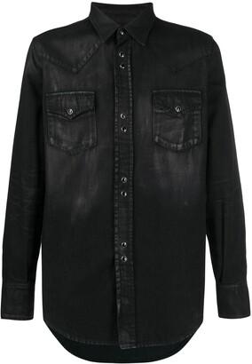 Saint Laurent coated Western shirt