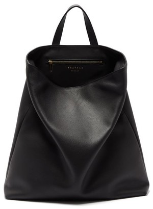 Tsatsas Fluke Grained-leather Tote Bag - Black