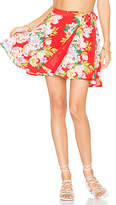 Privacy Please x REVOLVE Randall Skirt in Red. - size L (also in M,S,XL,XS)