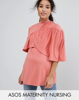ASOS Maternity - Nursing ASOS Maternity NURSING Ruffle Double Layer Top