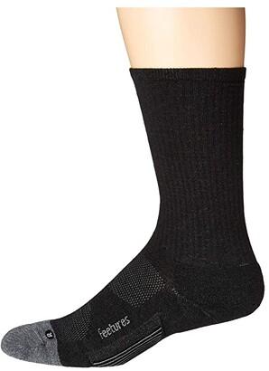 Feetures Merino 10 Cushion Crew (Charcoal) Crew Cut Socks Shoes