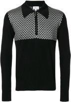 Brioni zip up collar sweater - men - Silk/Wool - 48