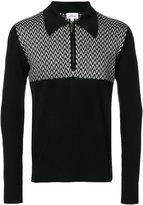 Brioni zip up collar sweater