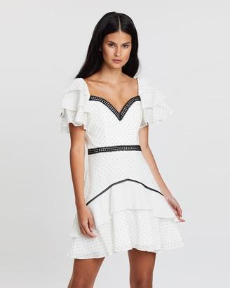Bariano Nicolette Ruffle Mini Dress