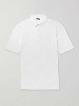 Kiton Slim-Fit Waffle-Knit Cotton Polo Shirt